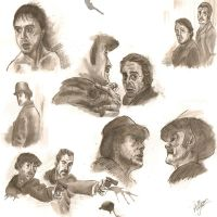 Sherlock Holmes End Credits Inked Collage by FullmetalFlame29