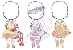 Magical girl outfit adopts:closed by bunniiadopts