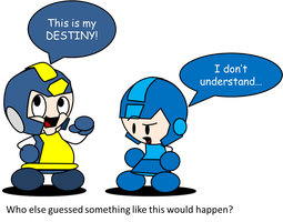 megaman in a fighting game? by Redstar212