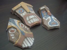 Tiki Masks by Auzins