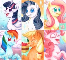 MLP ACEOs by solitaryzombie
