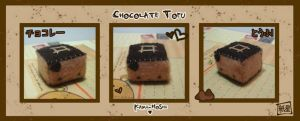 Chocolate Tofu by littlepaperforest