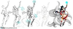 Step by step Ahri League Of Legends by YarickArt