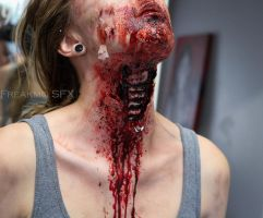 Ripped-throat Zombie #2 by Freakmo-SFX