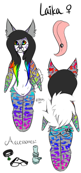 Laika's Reference Sheet by Miss-Ashtastic