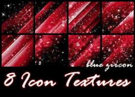 8 Sparkle Red Icon Tetures by bluezircon-graphics