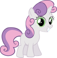 Sweetie Belle - Smiling by Liggliluff