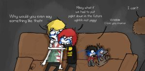 MCR watches Marley and Me by Xelasaurus
