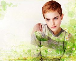 Emma Watson. Wallpaper by StalkerAE