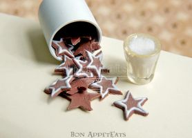 1:12 Gingerbread Star Cookies by Bon-AppetEats