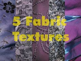5 Fabric Textures by Rubyfire14-Stock