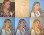 1043. portrait oil painting. WIP #1 by yakovdedyk