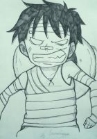 Angry Luffy by serenaleroux