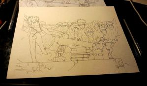 naruto rough inked by BlackLightning95