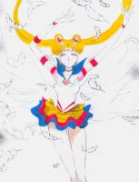 Eternal Sailor Moon~ a manga coloring by Mileyangel321