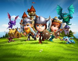 The Little Vikings. SplashScreen. by javieralcalde