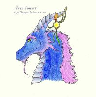 Colored lineart - dragonhead by MuniaElena