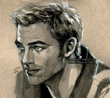 Chris Pine by evankart