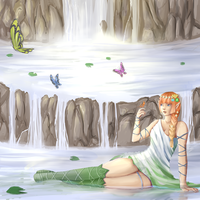 The Pond of Butterflies by Xylerz