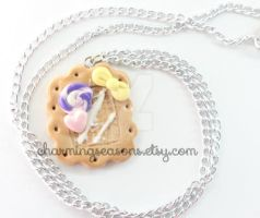 Sweets Deco Cookie Necklace by The-Killer-Anna