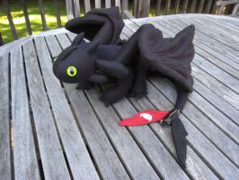 Toothless Plushie v1.3 - Alt view by kamidake
