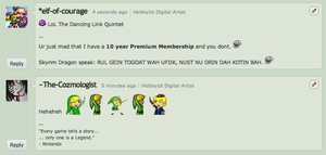 The Dancing Link Quintet LoL by elfofcourage