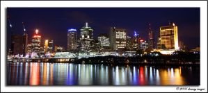 Brisbane City - by night - 1 by Dreamyimages