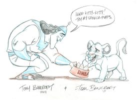 Disney Bro Jam:  Kronk and Simba by tombancroft