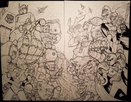 Megaman X Transformers Inks by RadicalDreamerX
