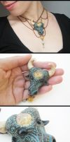 Taurus necklace by GemDeDude