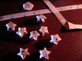 How I Make Paper Stars II by KyraTeppelin