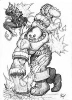 Juggernaut Vs. Nightcrawler by ManziG