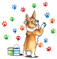 Paw Painting by Ashwin24