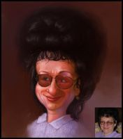 Caricature for a mother by creaturedesign