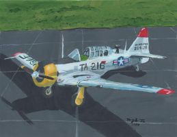 Mosquito T-6 Painting 21NOV13 by SudsySutherland