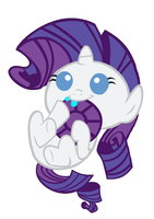 Baby Rarity's First Jewel by 3D4D