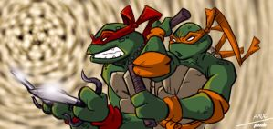 ANXs Ninja Turtles by dcjosh