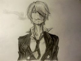 One Piece - Sanji (sketch) by Bloody-Addict