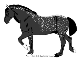 snowflake grey draft horse adopt- 4 points by whenwolveshowl
