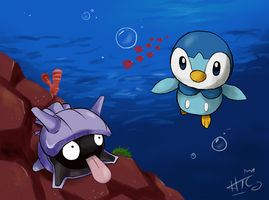Piplup Is Swimming ver 2 by sim-pie