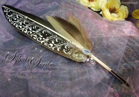 Sylvan Scribe Quill Pen by ChaeyAhne