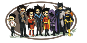 Bat Family by MahoHaku