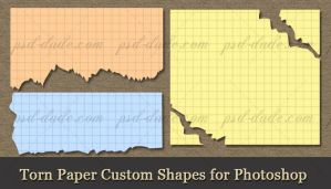 Torn Paper Custom Shapes by PsdDude
