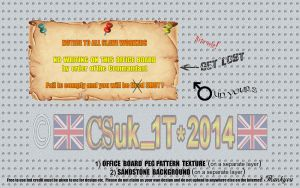 R+S: OFFICE NOTICE PIN BOARD by CSuk-1T