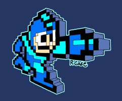 3D 8-Bit MegaMan by rongs1234