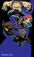 chibi borderlands by oldwillowJP