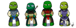 Chibi elements TMNT by Netrorev