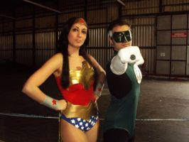 Green Lantern and Wonder Woman by AngelLiriel