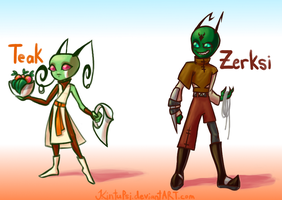 Teak and Zerksi by Kintupsi
