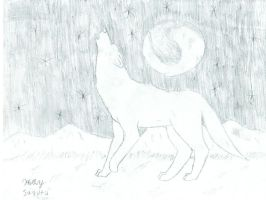 howling to the moon by k-9girl